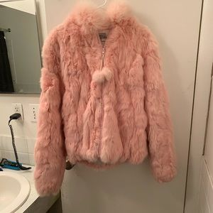 Jackets & Blazers - Che Bella pink genuine fur coat